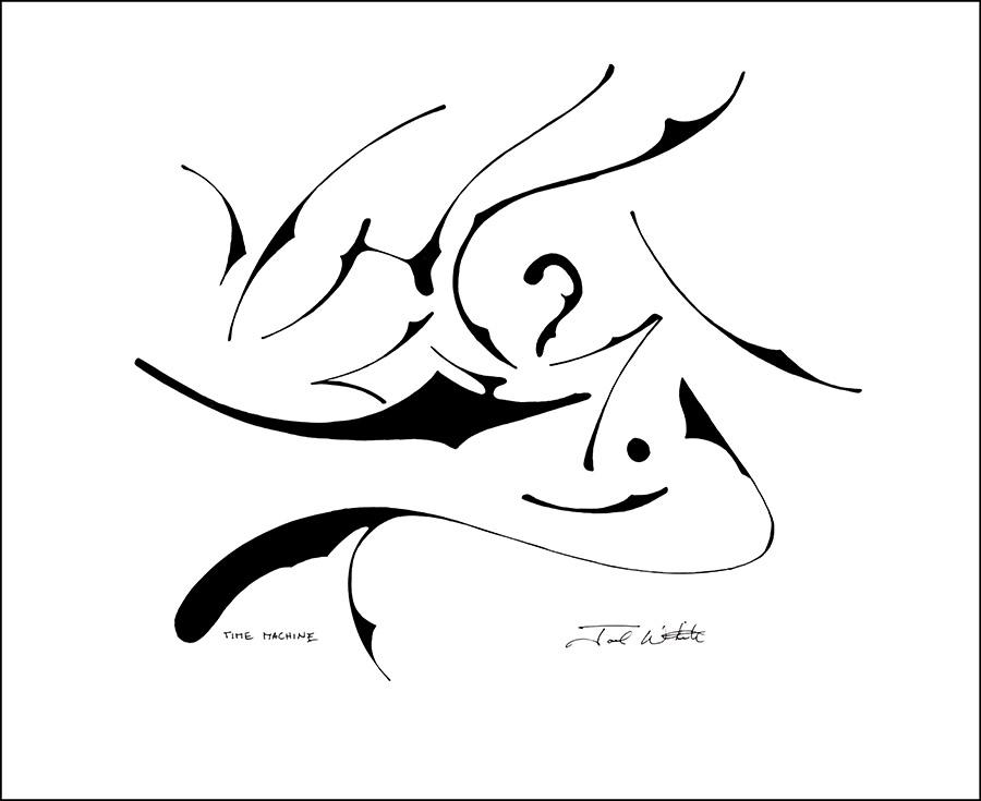 time machine joel b white fine artist and illustrator 20 X 20 Paper
